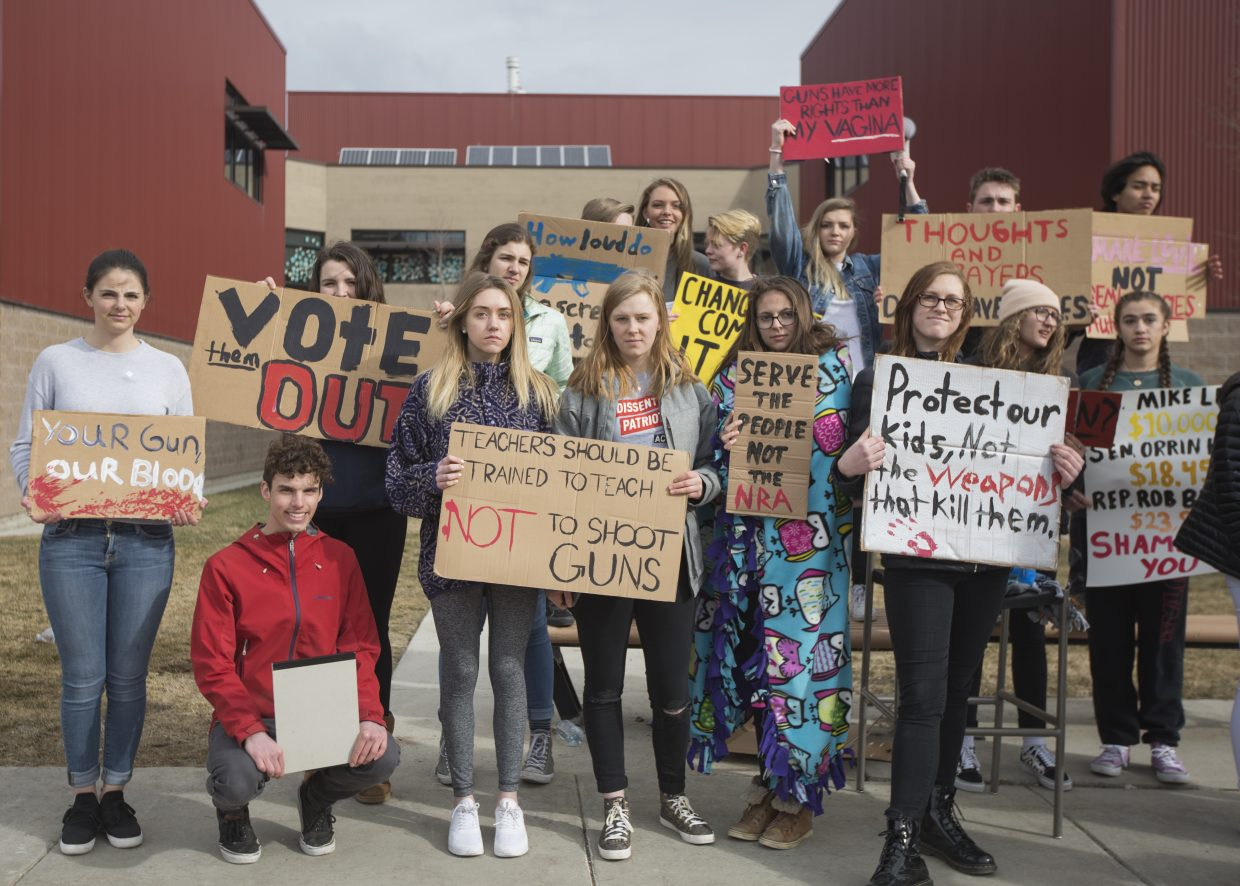 Students in the class current issues for social change helped plan the walkout and make plans for the event.