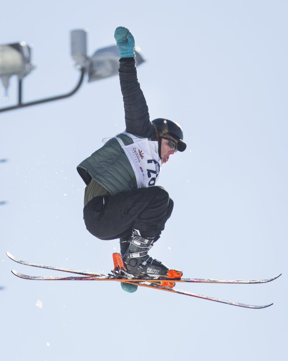 Reagan Wallis competes in the finals round of the Freestyle and Freeskiing Junior National Big Air competition at the Utah Olympic Park Saturday afternoon, March 10, 2018. (Tanzi Propst/Park Record)
