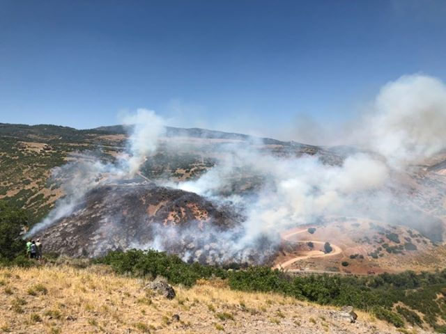 UPDATE: Crews resume efforts to fight Tollgate fire Tuesday ...