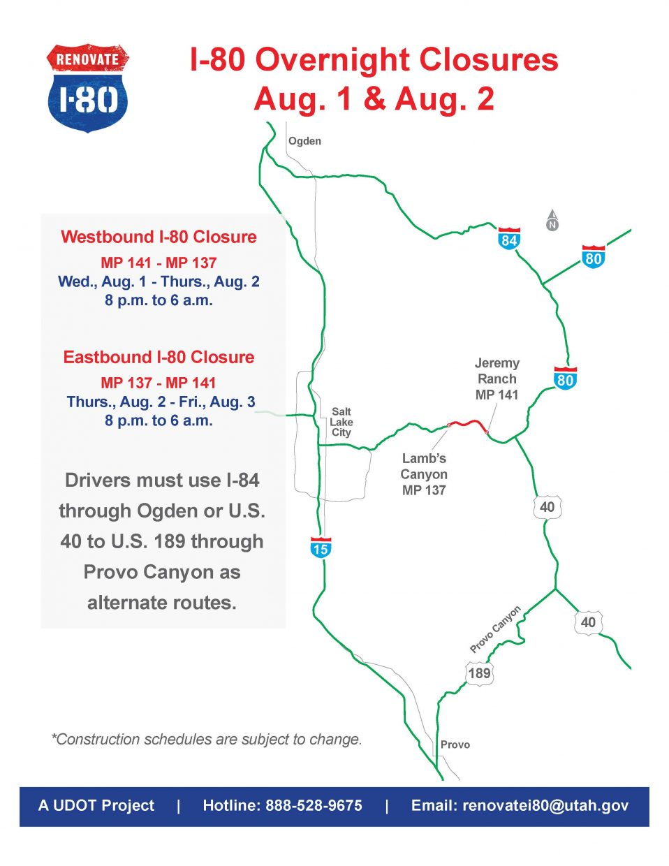 Interstate 80 Closures In Summit County Extended Parkrecord Com