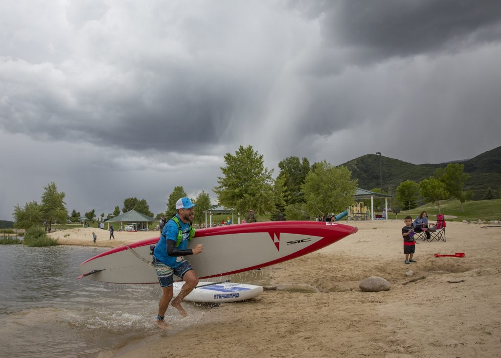 Park City SUP festival racers embrace a chilly competition