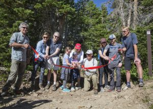 With the help of a private donor, the newly renovated Bloods Lake Trail is open