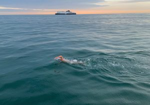 Parkite Rob Lea completes his swim of the English Channel, just two months after climbing Mount Everest